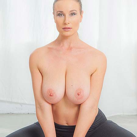 Busty Vassanta strips during her yoga session